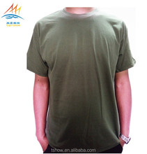 Overseas t shirts army green blank military green tshirts for men 100%cotton breathable sweat absorb