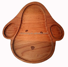 dog shape Natural Wooden Kids Plate
