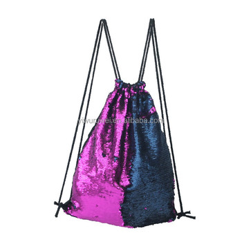 2017 good quality outdoor spots Mermaid Sequins Backpack Bag