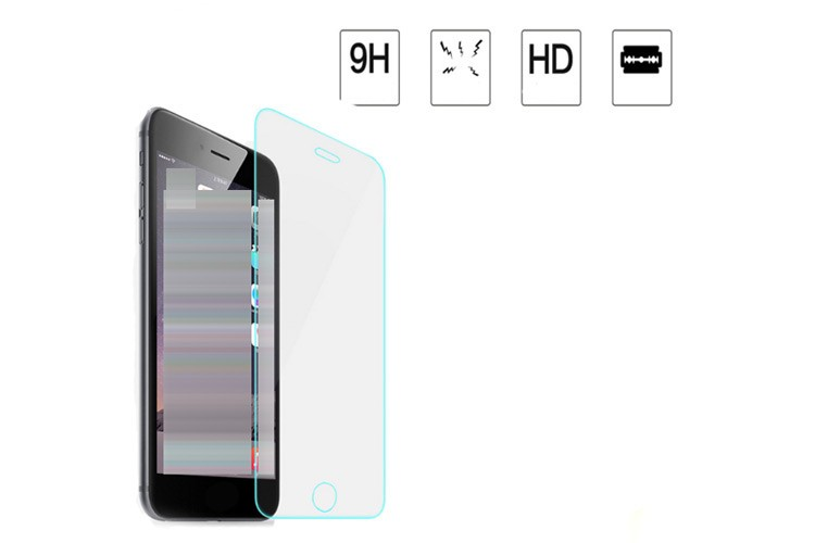 2.5D 9h hardness mobile phone glass screen protector for iphone 7