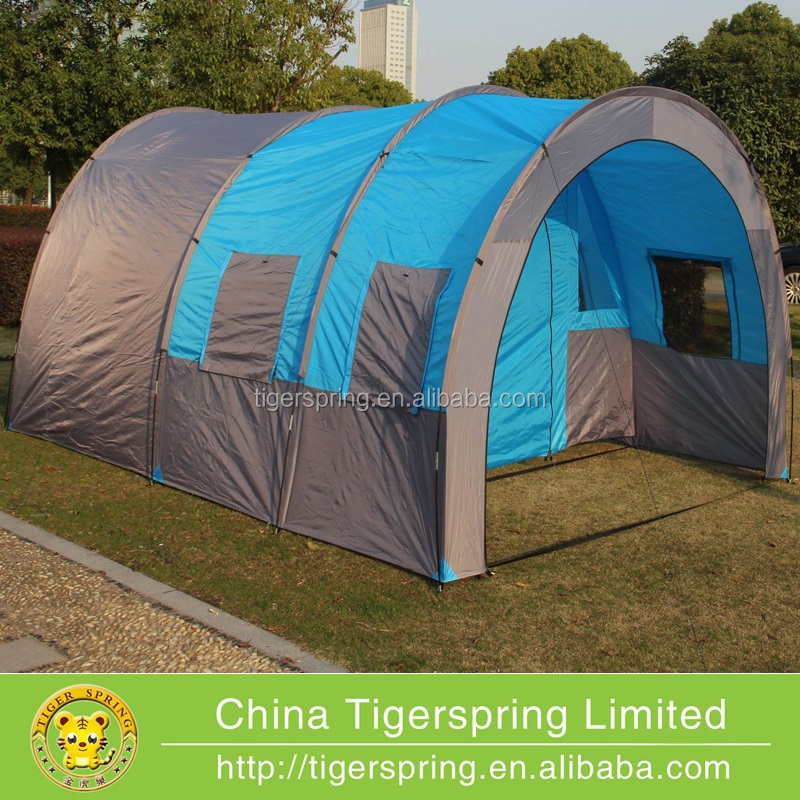 Large double layers camping tube tent