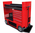 Kindleplate Rolling Tool Storage Cabinet 5 storage drawers cart by manufacture with 33 years in metal fabrication
