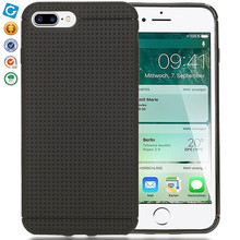 Soft TPU Cover Mesh scratchproof Case For iPhone 7 Plus