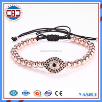 Manufacturer Fashion 14k gold diy woven evil eye bracelet