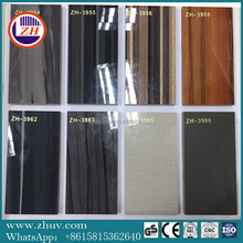 wood grain high glossy UV coated melamine faced MDF board of all size for decoration made from guangdong China uv panels