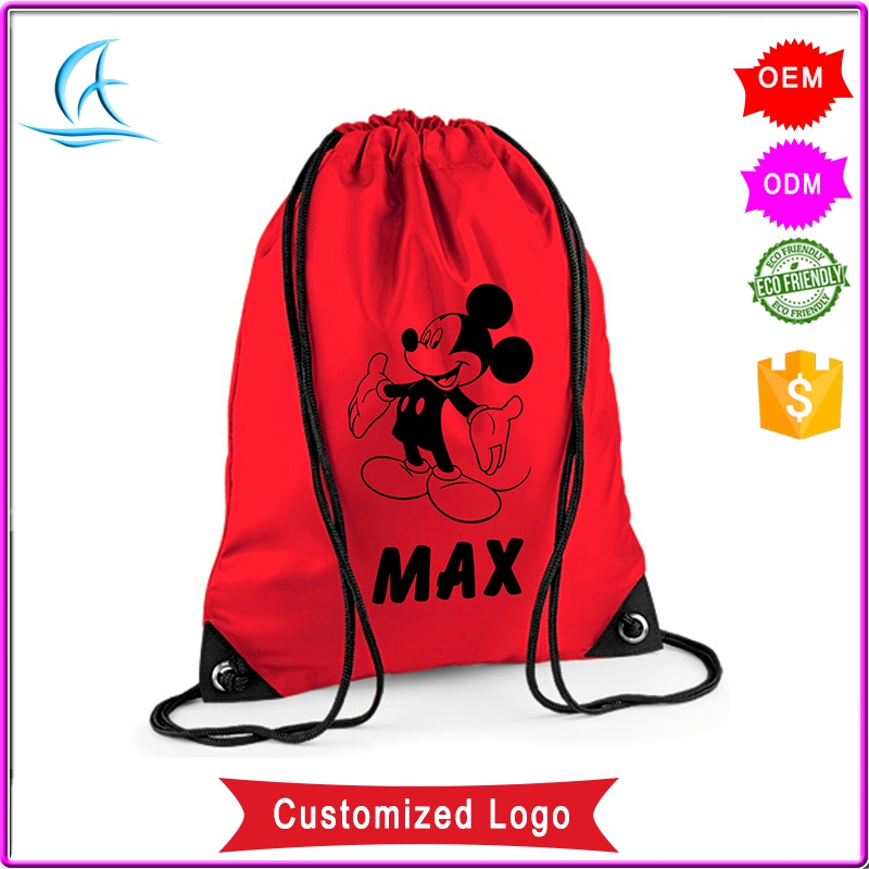 Cheap Polyester Gym Drawstring Backpack Bag