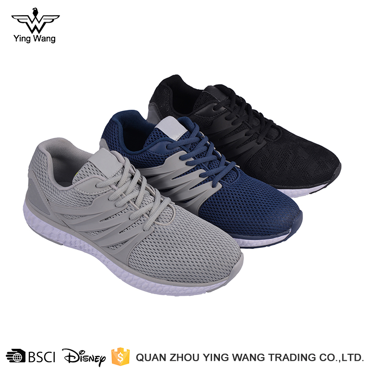 Wholesale high quality knitting running shoes 40-45 size men walking footwear