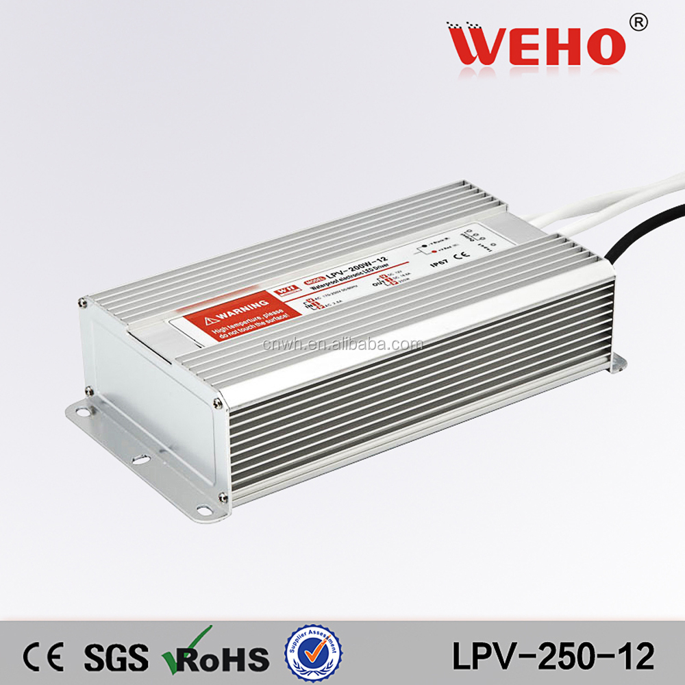 LPV-250-12 250w 12v 20A IP67 LED Driver AC DC Waterproof Switch Mode Power Supply
