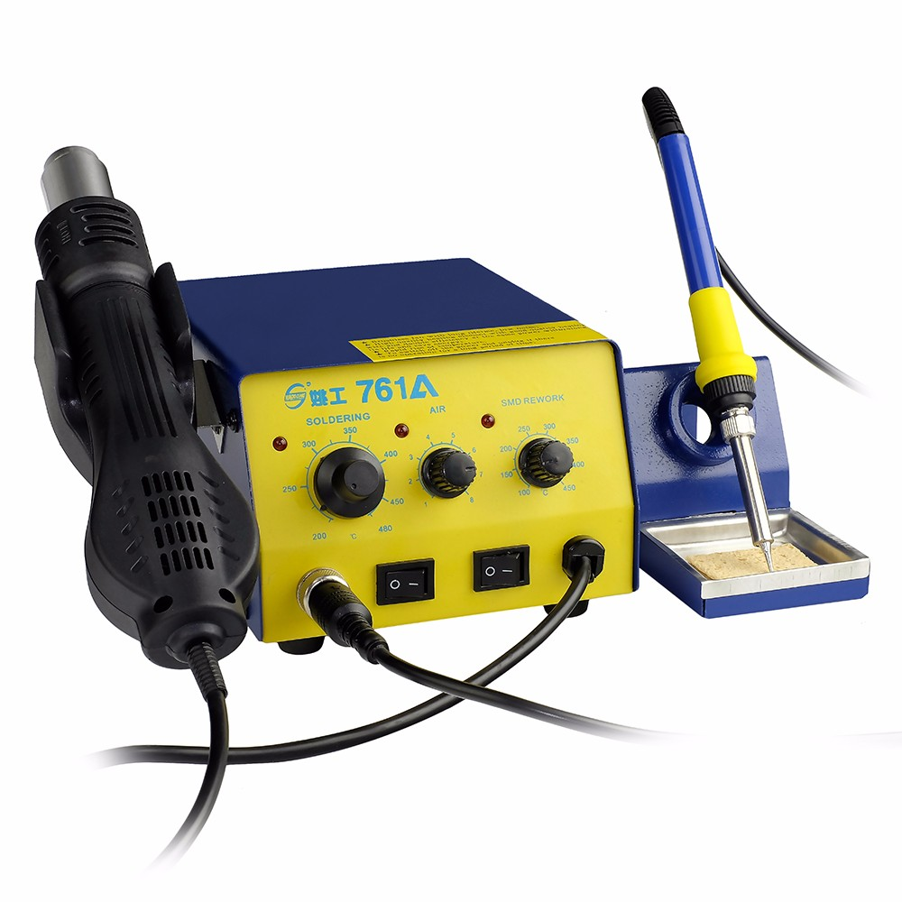 Yaogong 761A hot air smd soldering rework stations 2 in 1 welding machine mobile repair tools