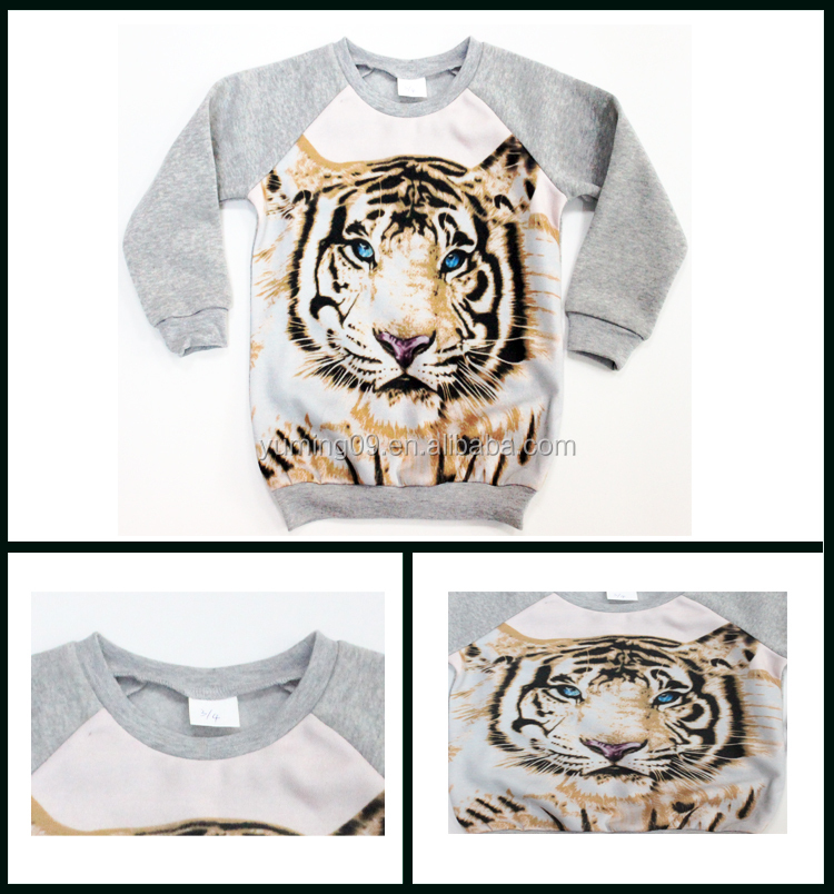 2014 lovely girl's fashion printed fleece