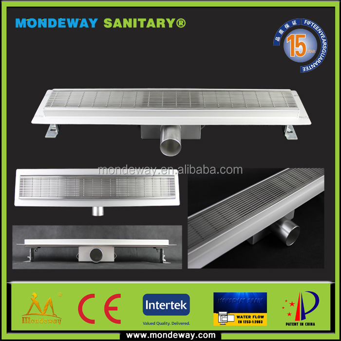 Popular For SUS304 High Quality Factory Price Linear Shower Channel Drain/Certification Small Sloped Channel Base