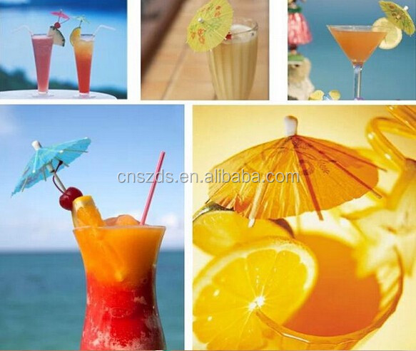 Colorful Mixed Paper Cocktail Drink Umbrellas Parasols Picks for Party Drinks 144 pcs/BOX,MOQ IS 10 BOXES