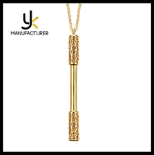 Chinese Style Traditional Movies Journey To The West Stainless Steel Bar Pendant Necklace Wholesale