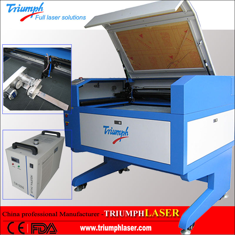 Wood MDF Acrylic Plexiglas Plastic PVC Veneer Rubber Leather Laser Cutting machines for Non-Metals Engraving (TR9060)