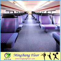 LUXURY 2mm 3mm commercial vinyl plank flooring Commercial bus flooring