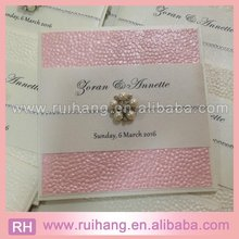 blush pocket fold handmade pebble embossed fold wedding invites for trade fair invitations
