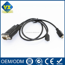 Micro B to RS232 Serial Cable Micro B Male to Micro USB B Female to Serial RS232 & DB9 9 Pin Converter Adapter Cable Android