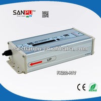 Shenzhen SANPU 2013 CE ROHS 200w waterproof ac dc led transformer 24vdc led driver tube led power supply ul