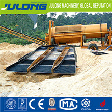 Julong River Gold Mining Equipment / Gold Trommel Washing Plant / Gold Diamond Separating Machine For Sale