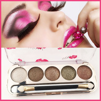 5 Color Pearl shadow eye powder diamond naked makeup smoky eyes glitter eyeshadow earth color OEM