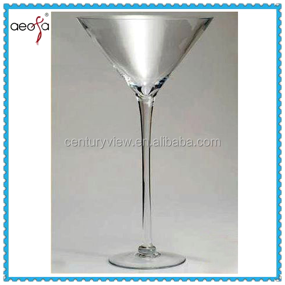 Clear martini vase for wedding decoration glass for Decoration vase martini