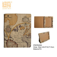 Retro style with the world map pattern child proof tablet case back cover for iPad , fancy tablet pc case