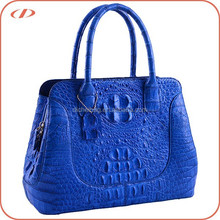 New design exotic genuine crocodile skin leather handbag