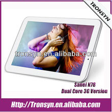 "New Sanei 7"" 800*600 Capacitive Screen 3G QUALCOMM Android Tablet PC Support 3G,GPS And Dual Camera"