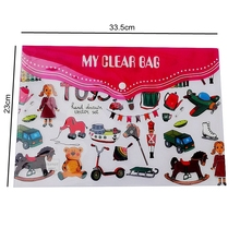 KT402 clear plastic PP File Folder bag envelope a3 a4 School Stationery Documet bag