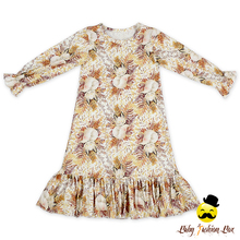 Wholesale Price Baby Girls Winter Long Sleeve 2 Year Old Girl Dresses Flower Print Indian Dress