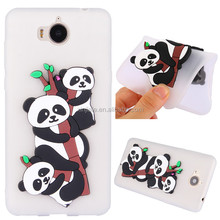 3D Panda Pattern Silicon Rubber Soft Case Mobile Phone Accessories Shell Cover For Huawei mobile phone series