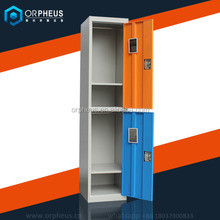 Small Cheap Metal Gym Locker Simple Design Doubel Color Steel 2 Door Uniform Locker For Employee