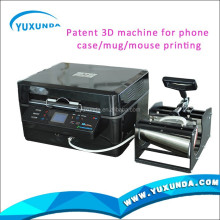 Patent YXD-ID pad printing machine 3 colour for wine glasses mug printing machine