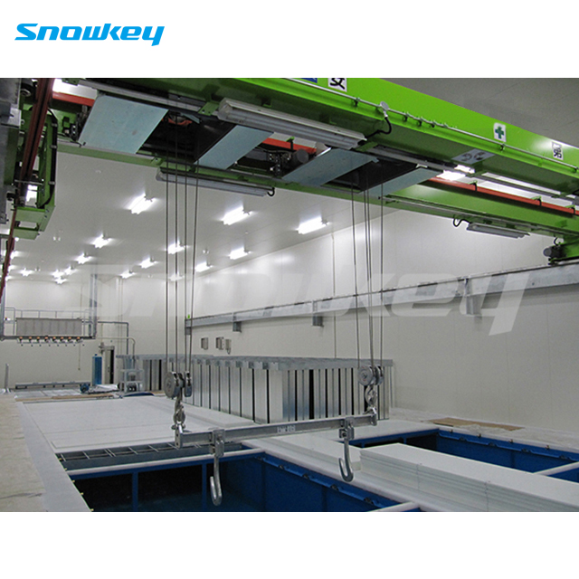 Snowkey 100 tons Block Ice Plant Ice Block Making Machine Price for Ice Factory