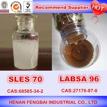 Hot sale made in china of liquid laundry detergent raw material sles 70 professional manufacturer