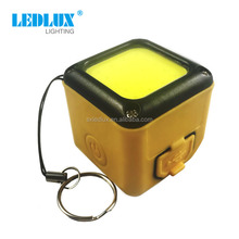 New product mini led usb rechargeable cube cob flashlight with magnet