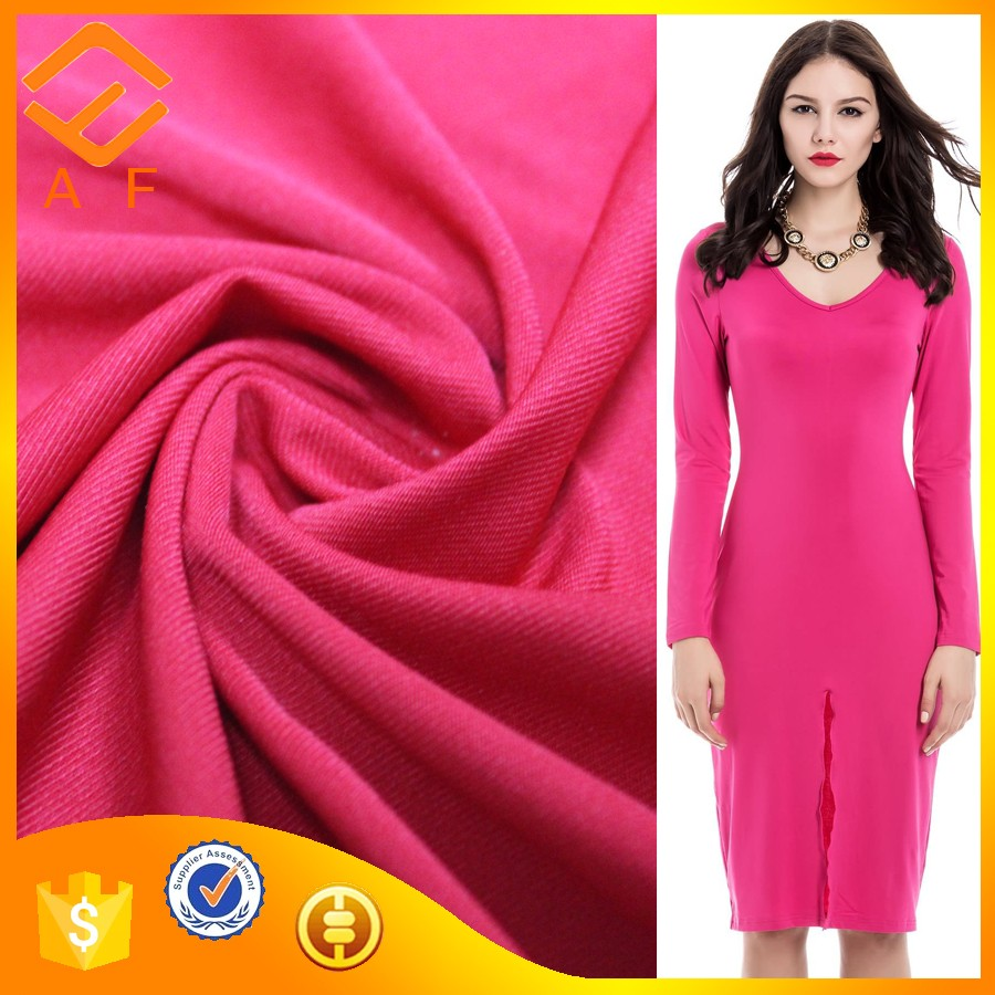 Polyester Spandex Knitted milk silk 4 way stretch fabric for garments