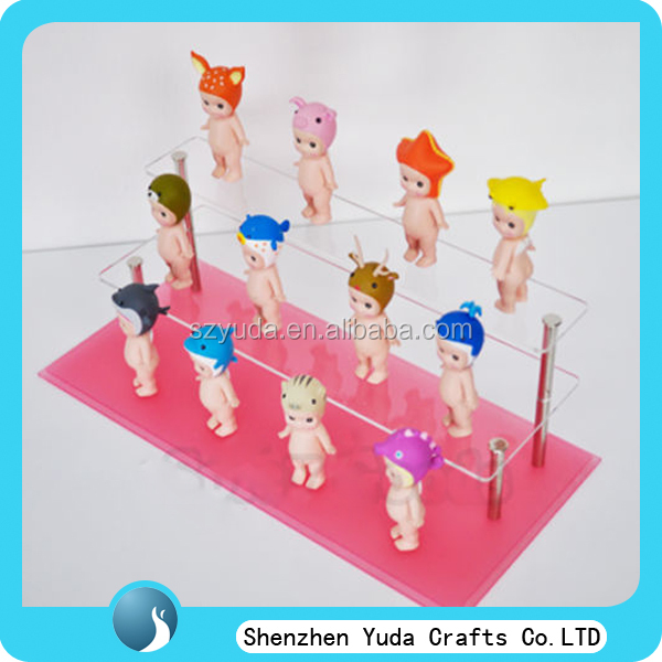 desktop custom doll stand elegant acrylic clear doll display stand for toy shop cheap wholesale