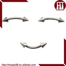 HT 316L Stainless Steel Spike Eyebrow Rings Basic Eyebrow Piercing Jewelry