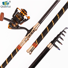 Carbon Telescopic Fishing Rod And 13BB Spinning Fishing Reel Fishing Tackle Set