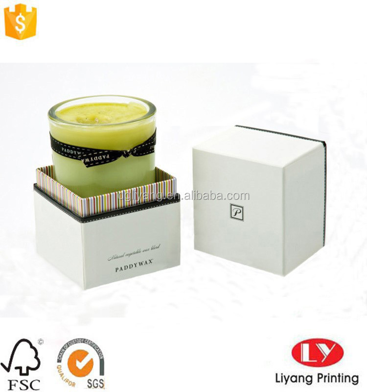cardboard box with shoulder for candle packaging