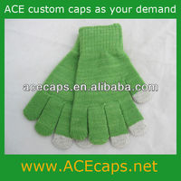 wholesale new fashion knitted stripped finger screen touch glove 2013