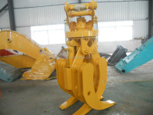 Hydraulic rotating wood grapple