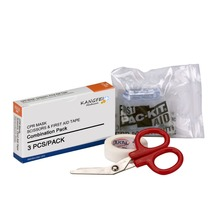 FDA Approved KF458 CPR Mask bandage Scissors Tape Roll 1 Each Box Emergency CPR basic kit for standalone first aid