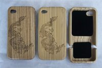dragon wood hard case back cover for iphone 4 4g