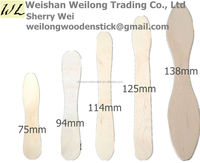 china manufacturer eco friendly mini wooden scoop spoon for icecream ice cream