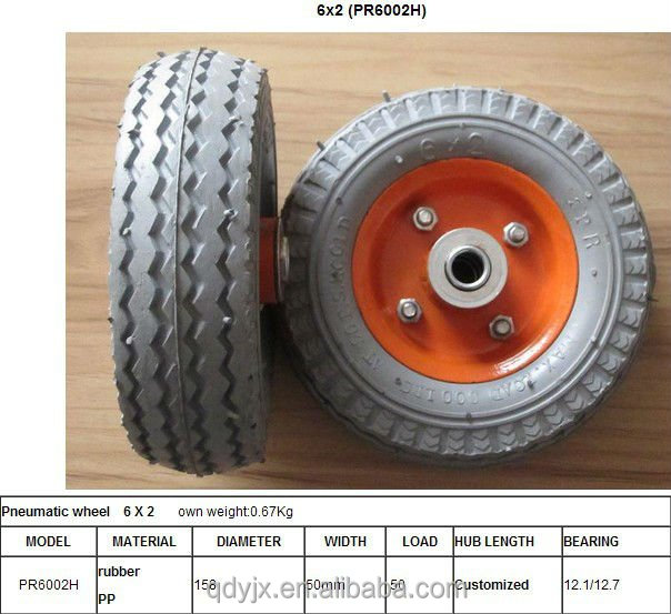 Pneumatic rubber tyre 6x2/air rubber tyre for beach wagon