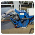 Movable steel plates surface rust removal shot blasting machine