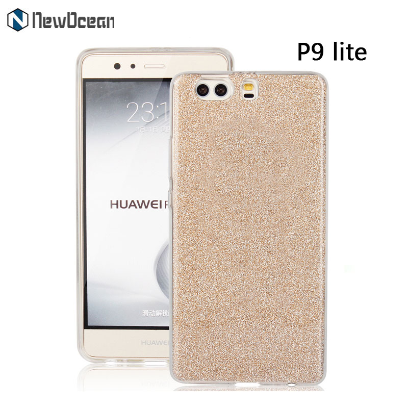 PC TPU 3 in 1 Luxury Glitter Sparkle Bling Designer Case Slim Fit Shining phone case for Huawei P9 lite