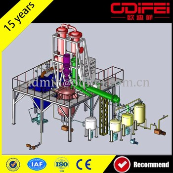 Latest technology Continuous plastic pyrolysis oil refining system Machine Oil Purifier